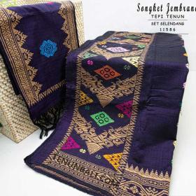 Kain Songket Dan Selendang Bali