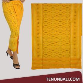 Tenun Nusa Penida : Tenun Endek Cepuk original Warna Kuning