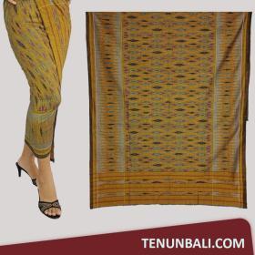 Tenun Nusa Penida  Tenun Endek Cepuk original Warna Oliv