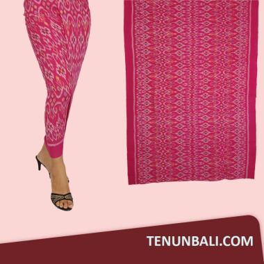 Tenun Endek Bali Motif Anggrek Warna Pink