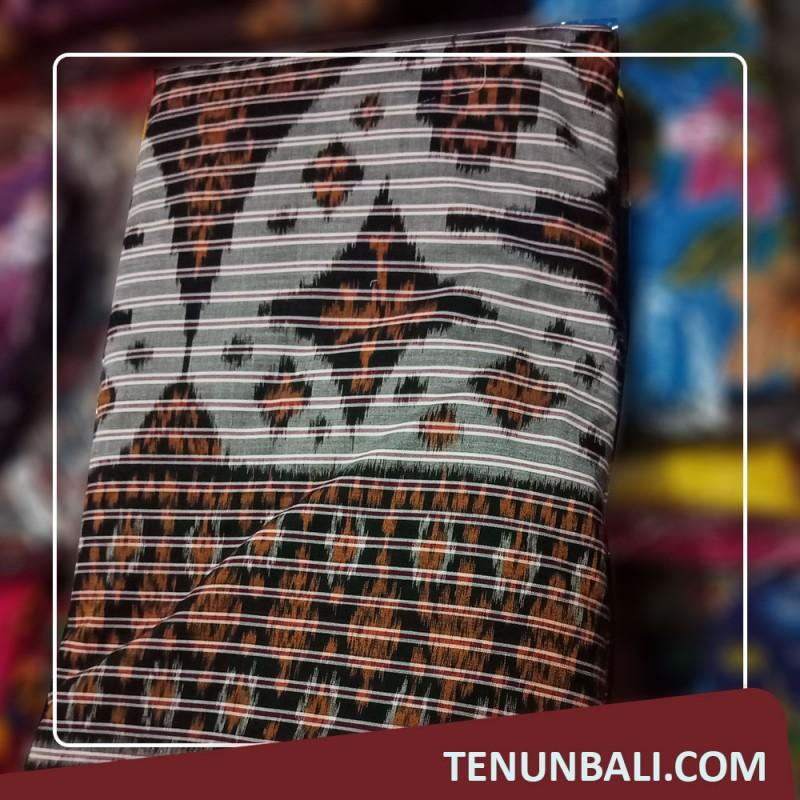 Seragaman Kain Endek Bali Meteran Motif Rembang warna Putih
